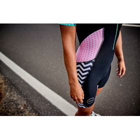 Zone3 Activate Plus Traje Triatlón Manga Corta Mujer, zebra fly-black/green/pink/white